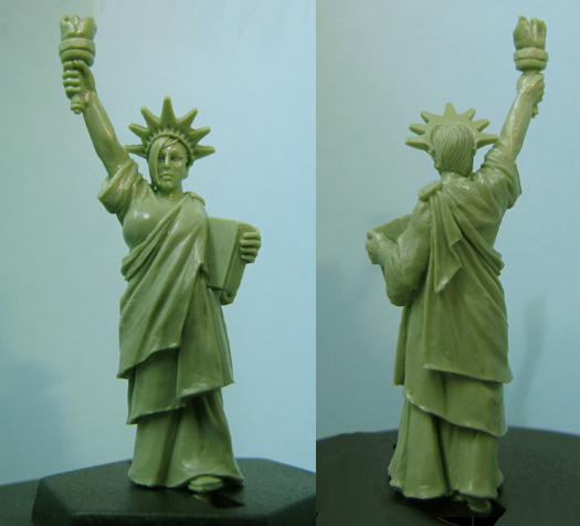 HFH061G Statue of Libby (green resin)