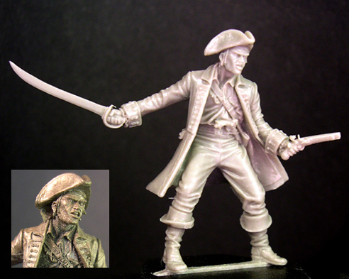 HFP024B Pirate Captain (limited bronze resin)