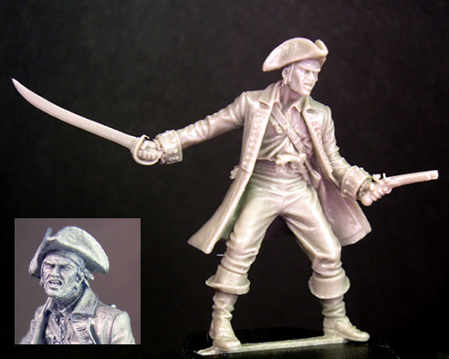 HFP024S Pirate Captain (limited silver resin)