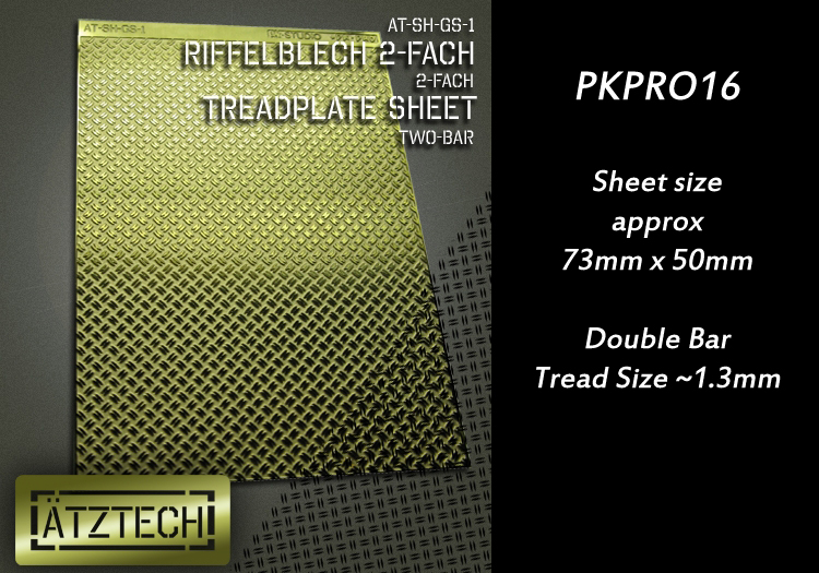 HFPKPRO16 2-Bar Treadplate