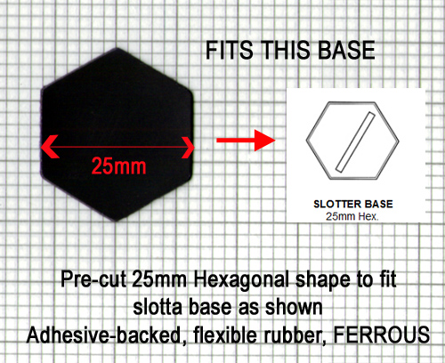HFIRONHEXx25 25mm Iron Hexes (25)