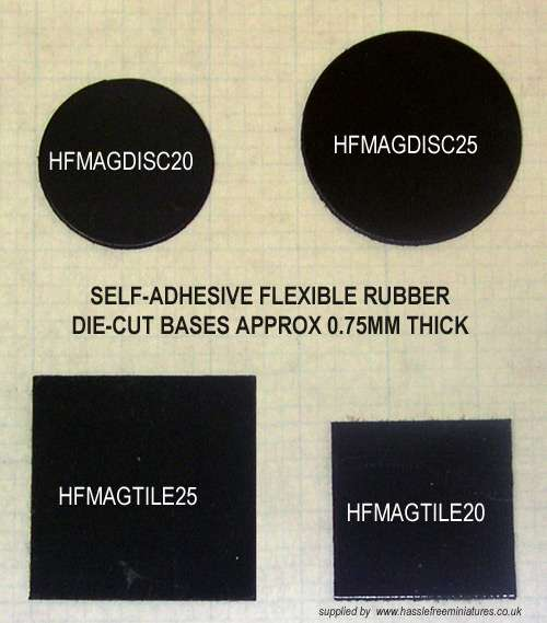 HFMAGTILE25X100 25mm square tiles (x100)