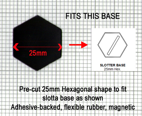 HFMAGHEXx25 25mm Diameter Magnetic Hexagon