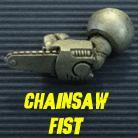 Powered Armour - Left Arm 4 - Chainsaw Fist