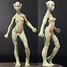 Resin Master - Female Elf Dolly
