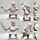 HFD023 Dwarf Pack  w Hand Weapons