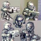 HFG5201 Light Infantry Squad  (Helmeted)